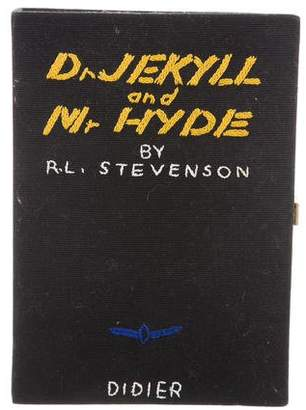 Olympia Le-Tan Dr. Jekyll Mr. Hyde Book Clutch