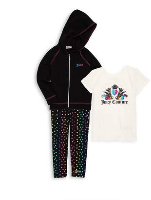 Juicy Couture Little Girl's Three-Piece Hoodie Set