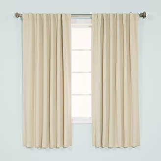 Best Home Fashion Best Home Fashion, Inc. Basic Solid Blackout Thermal Rod Pocket Curtain Panels