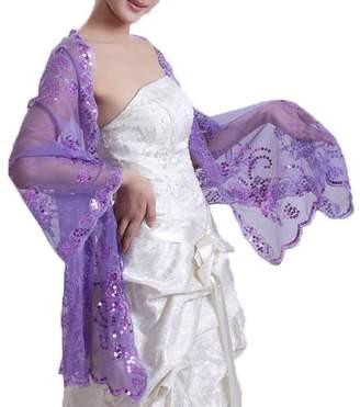 Dobelove Women's Sequined Wedding Shawl Wrap Formal Evening Party Scarves (OneSize, )