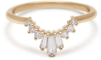 Anna Sheffield Triple Baguette Diamond Tiara Ring - Yellow Gold