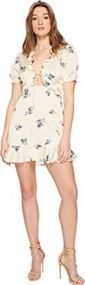 ASTR the Label Women's Billie Short Sleeve Floral Ruffle Short Dress