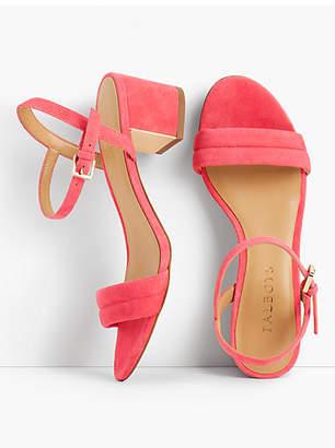 Talbots Mimi Suede Block-Heel Sandals