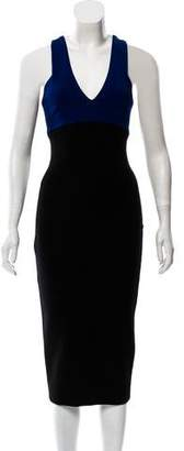 Victoria Beckham Sleeveless Midi Dress