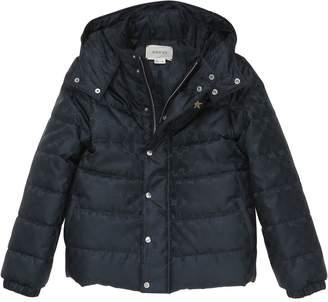Gucci Logo Nylon Jacquard Jacket