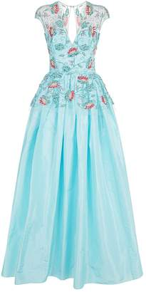 Naeem Khan Embellished Peplum Gown