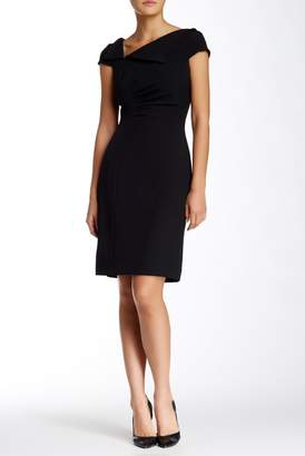 Tahari Fold-over Neck Sheath Dress $128 thestylecure.com