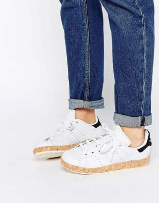 adidas Stan Smith Lux With Cork Sole Trainers
