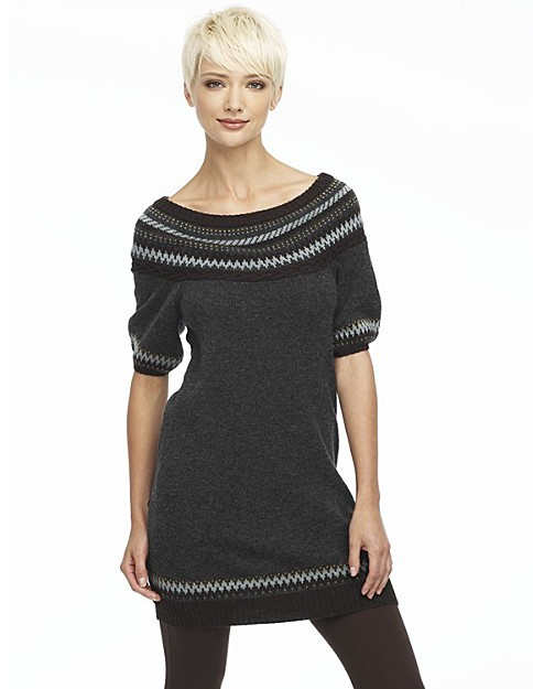 BCBG Max Azria Fair Isle Border Sweater