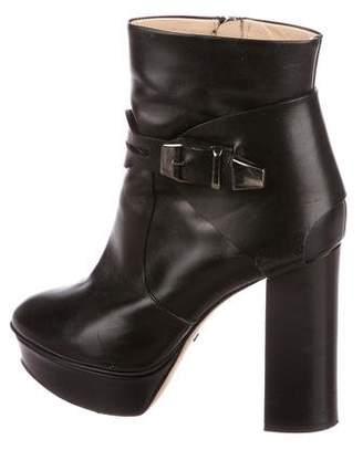 Jerome C. Rousseau Leather Platform Boots