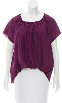 Elizabeth and James Short Sleeve Silk Top