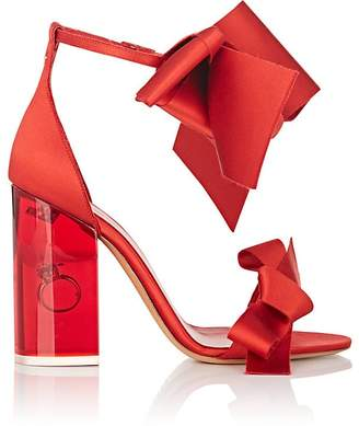Maison Margiela Women's Ring-Detail Satin Ankle-Strap Sandals