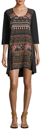 Johnny Was Waleska Embroidered Tunic, Plus Size $170 thestylecure.com