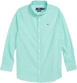 Vineyard Vines Gingham Check Whale Shirt