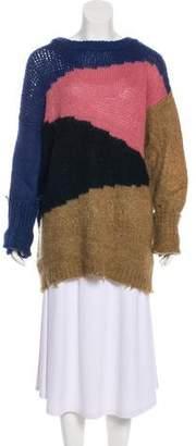 Etro Colorblock Crew Neck Sweater