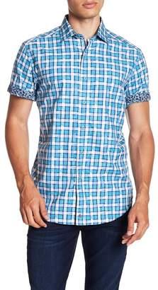 Robert Graham Tangier Short Sleeve Classic Fit Print Woven Shirt