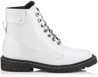 c174f1a8a875 Jimmy Choo The Voyager  SNOW F White Shiny Calf Leather Ankle Boots with  Heated