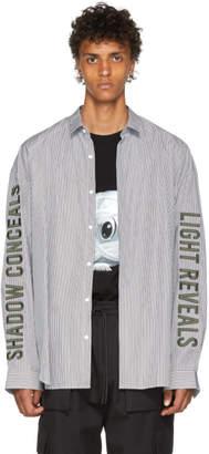 Juun.J Black and White Stripe Shirt