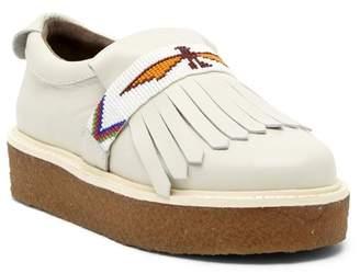 Australia Luxe Collective Glasto Kiltie Beaded Platform Leather Loafer
