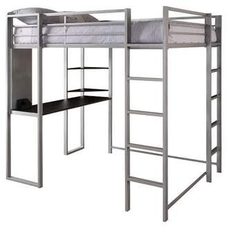 LOFT Room & Joy Adele Bed with Desk (Full) Silver