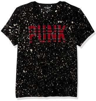 GUESS Men's Punk Paint T-Shirt