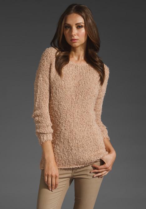 Vince Eyelash Crop Boatneck Sweater