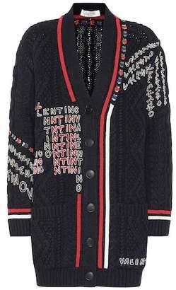 Valentino Embellished wool cardigan