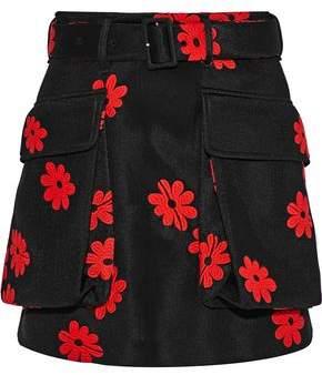 Simone Rocha Embroidered Neoprene Mini Skirt