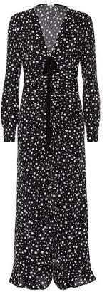 Miu Miu Star-printed silk maxi dress