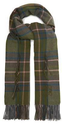 Loewe - Raw Thread Tartan Scarf - Womens - Green