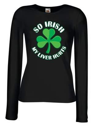 DAY Birger et Mikkelsen lepni.me T Shirts for Women Long Sleeve St. Paddy's Sayings Shirts,So Irish .