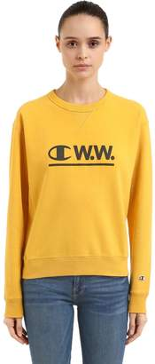 Champion Wood Wood Logo Cotton Sweatshirt