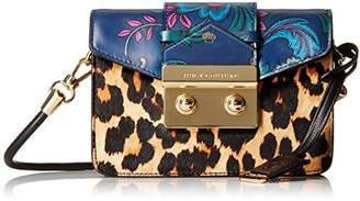 Juicy Couture Black Label Mini Crossbody with Envelop Flap Closure with Print Blocking Detail with Flowers