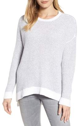 Eileen Fisher Waffled Organic Cotton Sweater