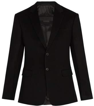 Prada Single Breasted Cashmere Blazer - Mens - Black