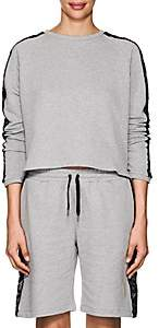 Sapopa Women's Lace-Detailed Cotton French Terry Sweatshirt - Gray