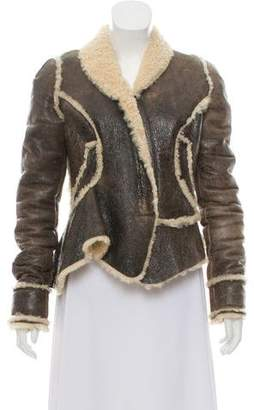 Givenchy Open Front Shearling Jacket