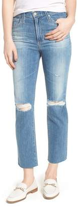AG Jeans The Isabelle High Waist Crop Straight Leg Jeans (13 Years Saltwater)