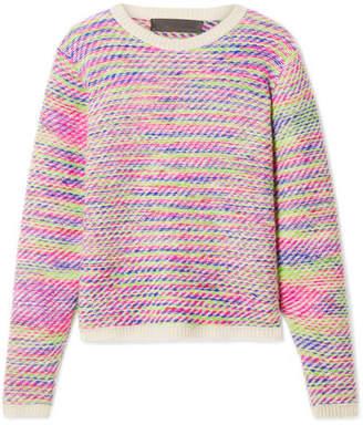 The Elder Statesman Intarsia Cashmere Sweater - Pink