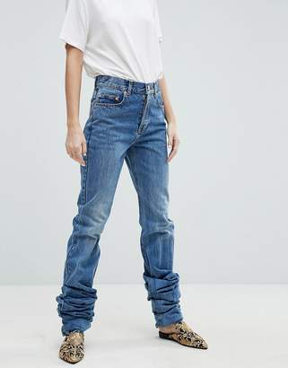 Asos DESIGN AUTHENTIC STRAIGHT Leg High Waisted Jean With Extreme Long Leg