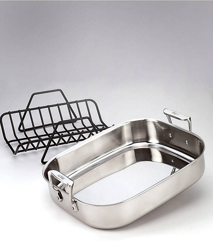 All-Clad Stainless Collection Small Roti Combo with Rack