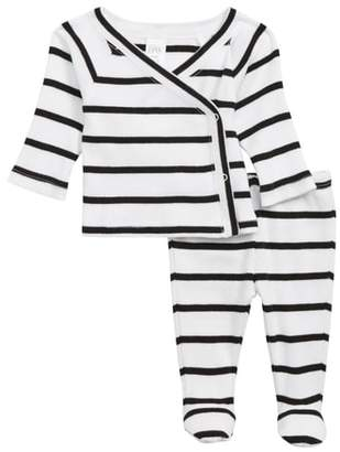 Nordstrom Wrap Top & Footed Pants Set