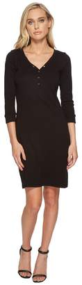 Three Dots Heritage Knit Henley Dress Women's Dress
