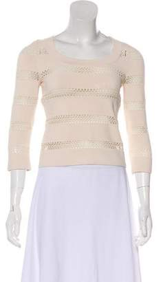 Alaia Knit Three-Quarter Sleeve Top