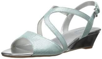 Bandolino Women's Grayson Fabric Wedge Sandal