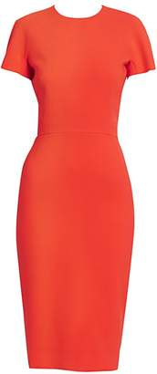 Victoria Beckham Fitted T-Shirt Sheath Dress