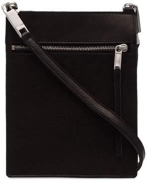 Rick Owens Pelle leather zip pocket wallet