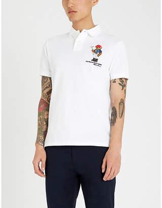 Polo Ralph Lauren Bear-embroidered cotton-piqué polo shirt