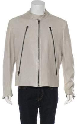 Maison Margiela Five-Zip Leather Zip-Accented Jacket