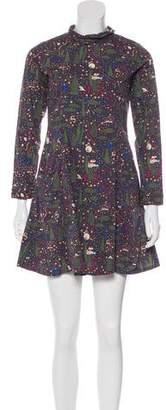 Samantha Pleet Printed Mini Dress